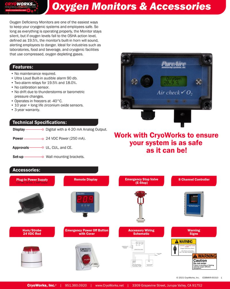 Oxygen Monitors and Accessories
